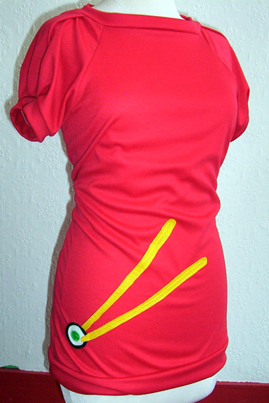 Style: Cap sleeved scoop neck / Colour: Red / Price: $45