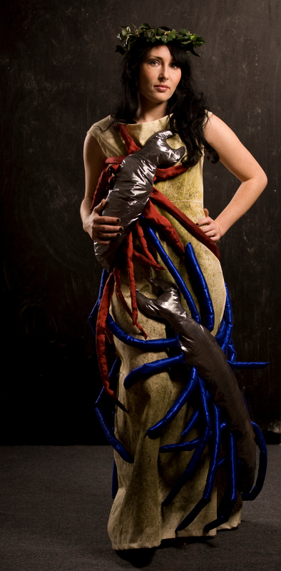 Persephone dress, created in 2009. Modelled by Stacy Reardon.