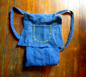 Make a Backpack from an Old Pair of Jeans