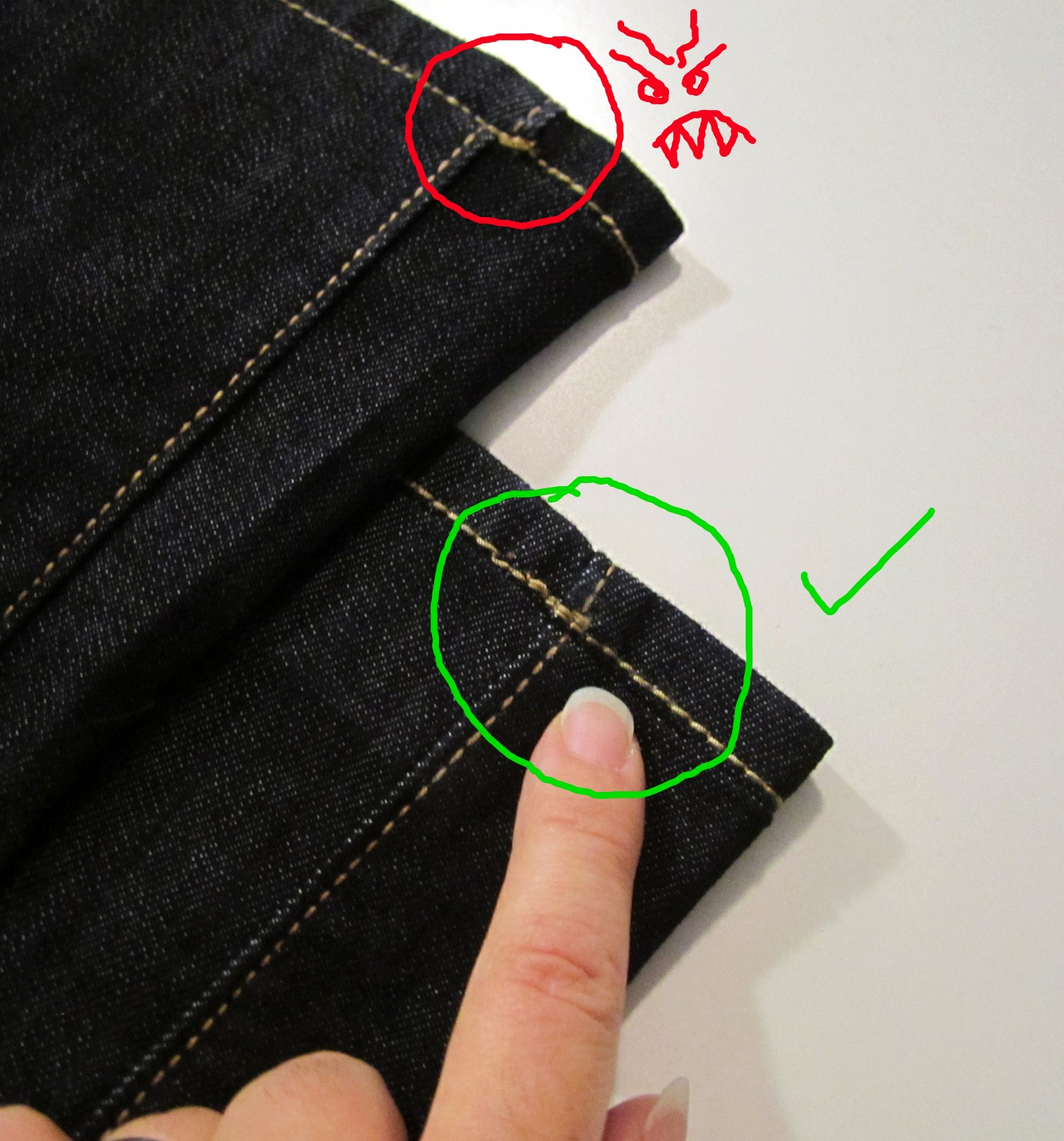Fix Your Jeans: Keep the Original Hem