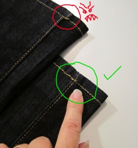 Shorten your jeans, while keeping the original hem, aka European Hem Tutorial