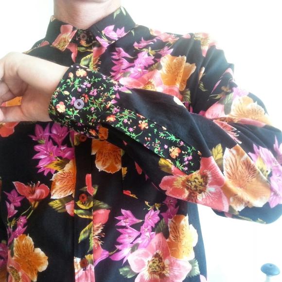 Long sleeved button down shirt, men's wear, 2015